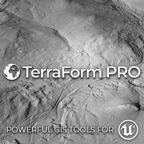 EDITOR PLUGIN: Real Maps. Epic Landscapes. Powerful GIS Tools for UE4. Import GIS data directly into UE4 to quickly and easily create accurate real world landscapes.