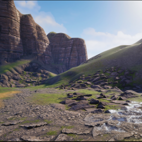 """Terrain Materials VOL.2"" - 11 layer of landscape material"