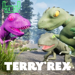 Stylized Animated Reptile Creature