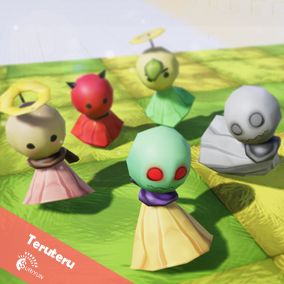 Teruteru 3D Characters with 5 Animations.
