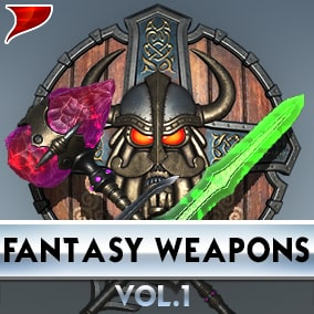 Fantasy Weapons Vol.1 with all kinds of unique VFX/SFX and Animations.