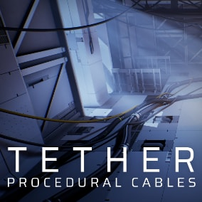 Create cables, ropes, flexible pipes, and anything similar, in the Unreal Engine editor. Tether simulates physics and builds static meshes in-editor, allowing rapid creation and iteration using a non-destructive workflow.