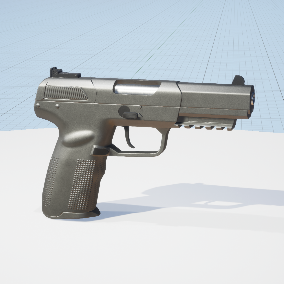 3D game-ready pistol model with realistic 4k textures