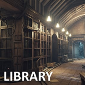 Low-poly Environment - Interior Library