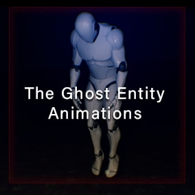 A simple ghost entinty animation set with 8 way movement