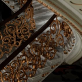 Fully modeled classical staircase assets with free ceiling, ornaments and moldings.