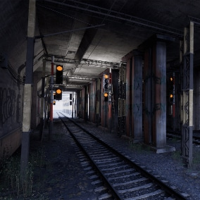 The Tunnel is a train tunnel environment with simplistic meshes and nice materials