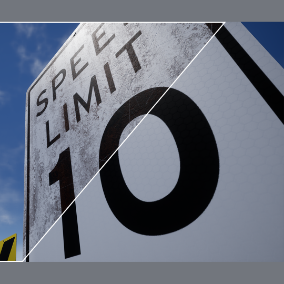 A sign pack of over 100 signs, and 400 look variants driven by one blueprint