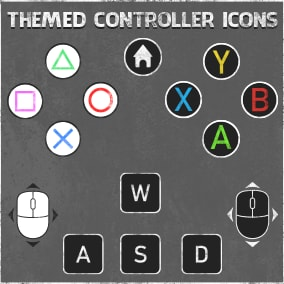 450+ Grunge Themed Controller Icons for Consoles and PC.