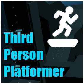 Template for a Third Person Platformer, complete with many objects to interact, collect and use to complete different gameplay tasks.