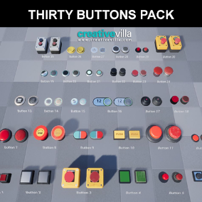 Thirty Buttons Pack with both new and old PBR materials included for each.