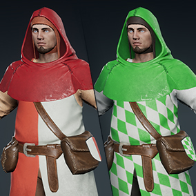 ThreeDee Medieval Militia is a well optimized low poly game ready character with multiple LODs and color / mask variations.