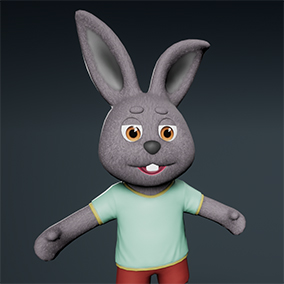 ThreeDee Rabbit is a well optimized, game ready character with color variants and custom animations.