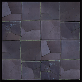 Set of 10 - 4k scan-based tile damage state materials.