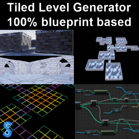 Automatically generate tiled 3D levels in one click. Highly customizable and 100% implemented in Blueprints!