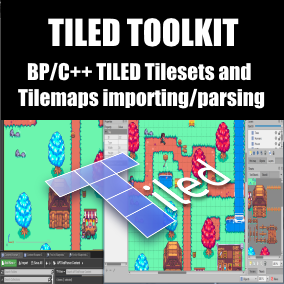Allows you to import and parse Tiled Map Editor files (.tmx, .tsx) to Unreal asset files (.uasset). Can be used with BP and C++.