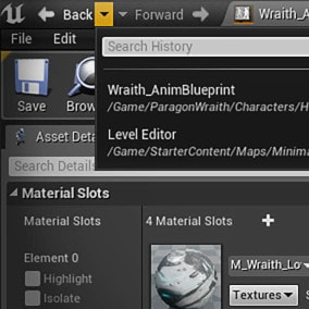 A back button for unreal! Time Machine keeps track of your tab history so that it's easy to navigate the asset jungle of Unreal!