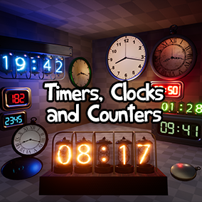 A set of extremely versatile and functional Clocks, Timers and Counters. Drag in a pre-made Blueprint and adjust the settings to fit almost any project.