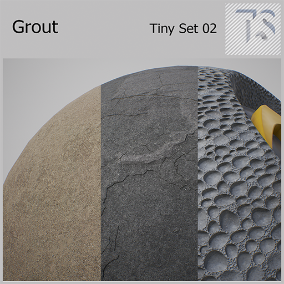 Six types of cement grout material