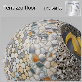 Six types of terrazzo floor material
