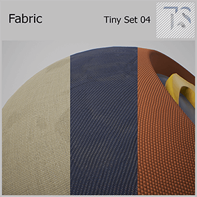 Six materials of different fabric types. All materials can be customized on many parameters such as color, folds, dirt.
