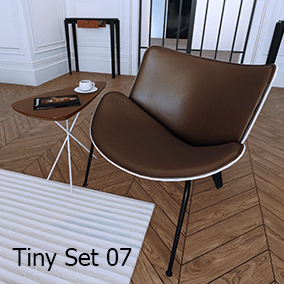 Nine highly optimized models that can be useful in any interior visualization.