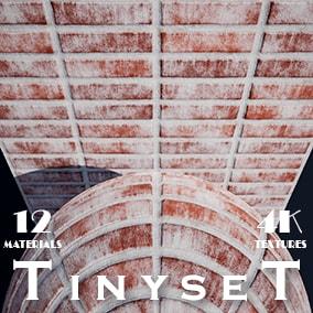 Twelve types of brick material.