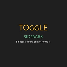 Sidebar visibility control for UE4
