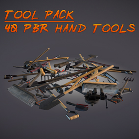 Tool Pack - Collection of 40 PBR Hand Tools each with Clean/Dirty Variation