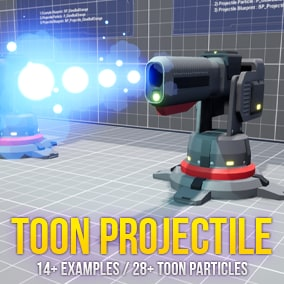 Toon Projectile VFX Pack is toon projectile effects and models.