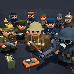 Cartoony Low Poly WW1 soldiers pack.