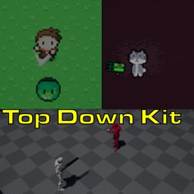 The top down kit comes with 3 top down games to help you build a top down game