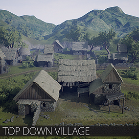 Village environment for top down games which can be useful for prototyping you fantasy games.