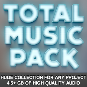 4.5+ GB of high quality audio! 140+ different music tracks!