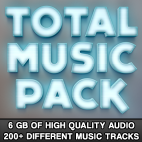 6 GB of high quality audio! 200+ different music tracks!