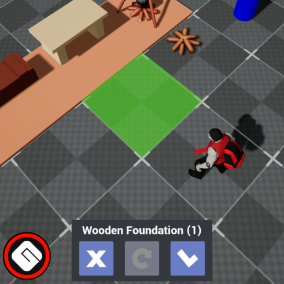 Build, Inventory, Crafting, Equipping Items and more using Touch.