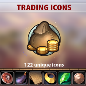 A set of 122 hand drawn Trading Icons.