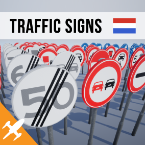 167 Unique Dutch traffic signs with a easy to use Blueprint system.