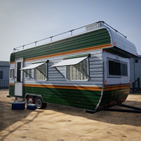 This pack contains realistic PBR models for trailer park environments.