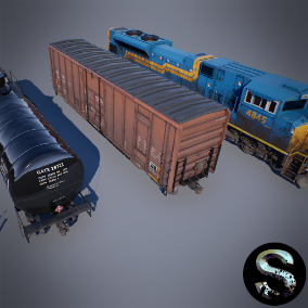 High quality train and wagon pack