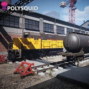 Modular Train yard FPS map with modular parts