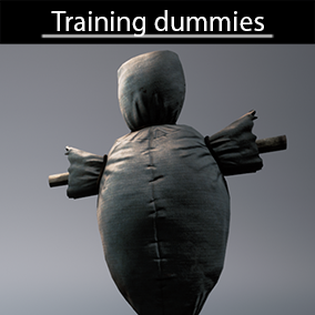4 high quality training dummies, 2K textures and LODs with modular materials
