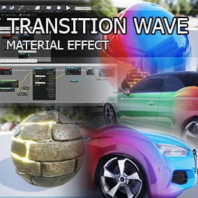 Create transition effects for materials.
