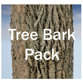 Scanned PBR Material Collection of common Tree Bark