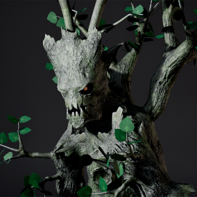 A low poly model of a Tree Monster