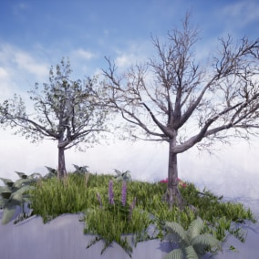 This vegetation and foliage pack has over 35 uniquely crafted assets allowing you add a wide range of foliage assets to your game levels.