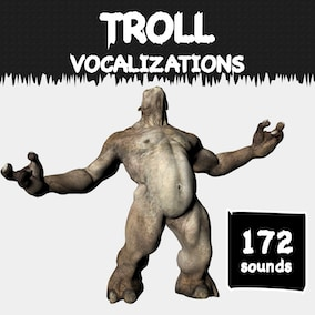 A troll vocalization sound library with 172 high-quality big-monster sound effects.