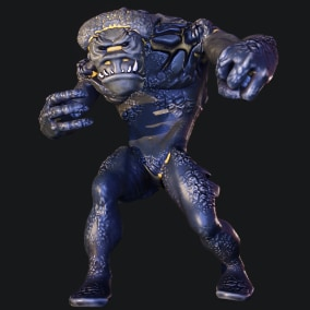 Animated Troll (11 custom animations) rigged to Epic Skeleton. Can be retargeted. Basic third person's animations are already retargeted in the project.