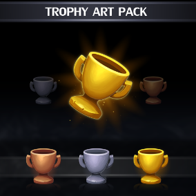 Set of 15 hand drawn Trophy icons.