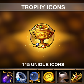 A set of 115 hand drawn Trophy Icons.